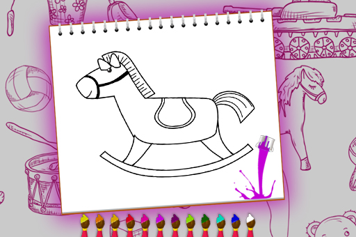Image Coloring Book Toy Shop