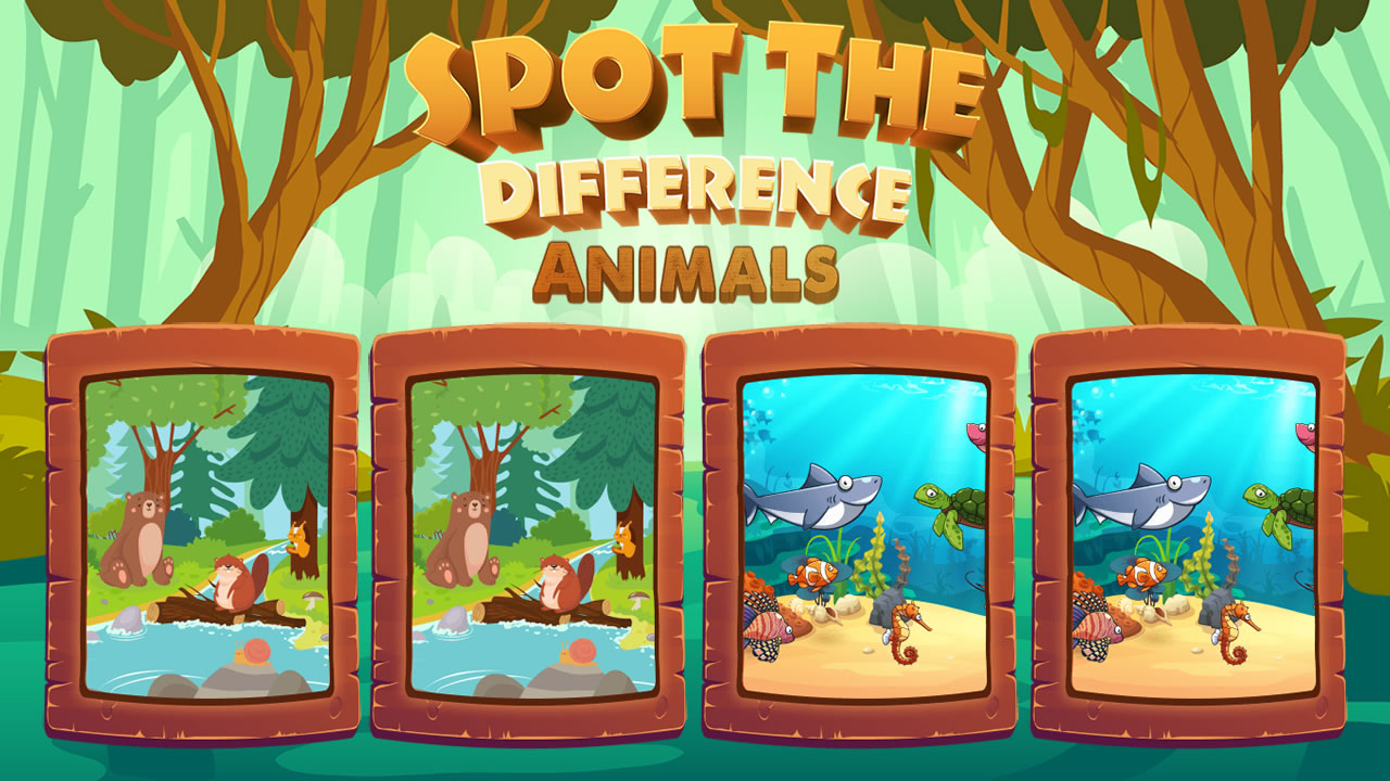 Image Spot the Difference Animals