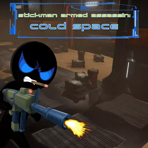 Image Stickman Armed Assassin Cold Space